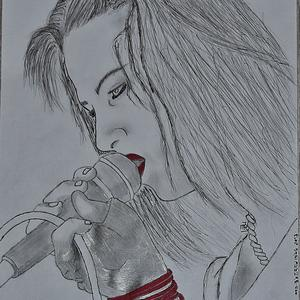 Lzzy Hale by Mad-B's Drawings - Halestormrocks Photos